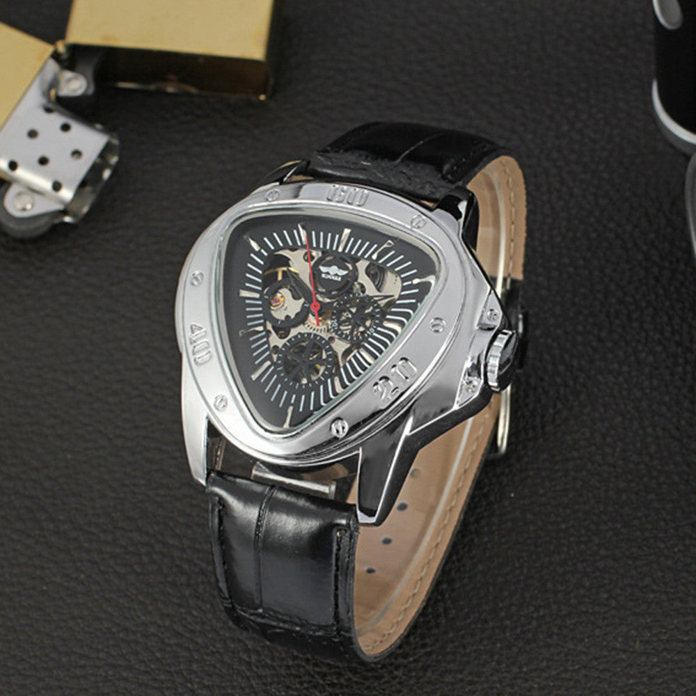 Winner Mens Watches Top Brand Luxury Automatic Watch Men Triangle Watch Clock