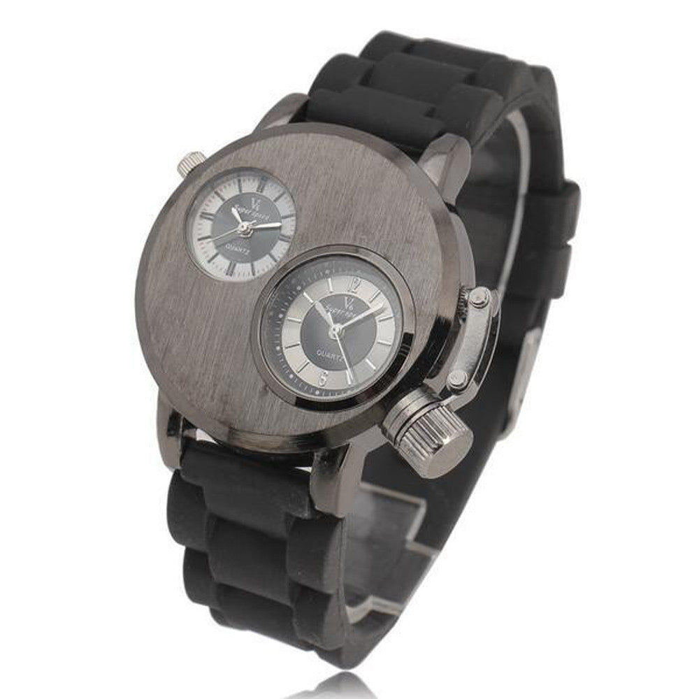 New Mens Silica Gel  Date Military Sport Quartz Analog Wrist Watch