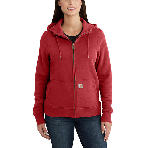 Womens Clarksburg Full Zip Hoodie - Dark Crimson Heather