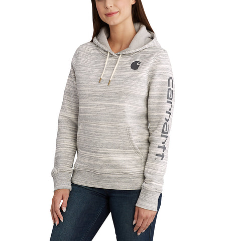 Womens Clarksburg Graphic Sleeve Pullover Swt - Shadow Space Dye