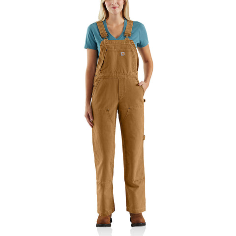 Womens Wildwood Unlined Bib Overalls - Carhartt Brown