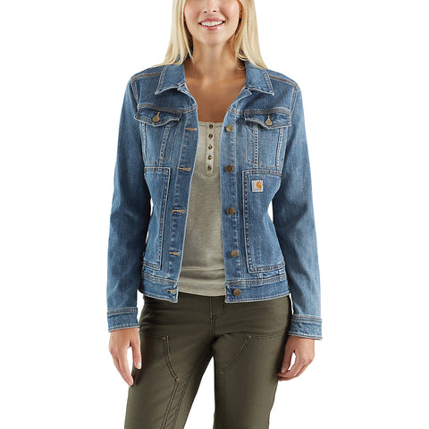 Womens Benson Denim Jacket - Stonewash
