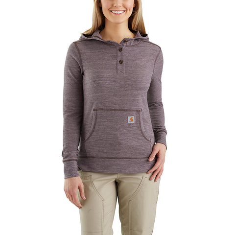 Womens Norwalk Hoodie - Dark Sparrow Space Dye