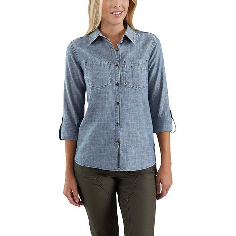 Womens Fairview Solid Shirt - Light Indigo