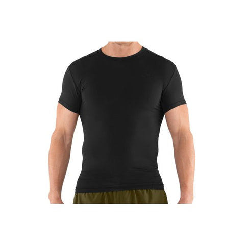 Men's Tactical HeatGear Compression Short Sleeve TShirt - Black