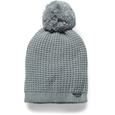 Favorite Waffle Pom Beanie - True Gray Heather