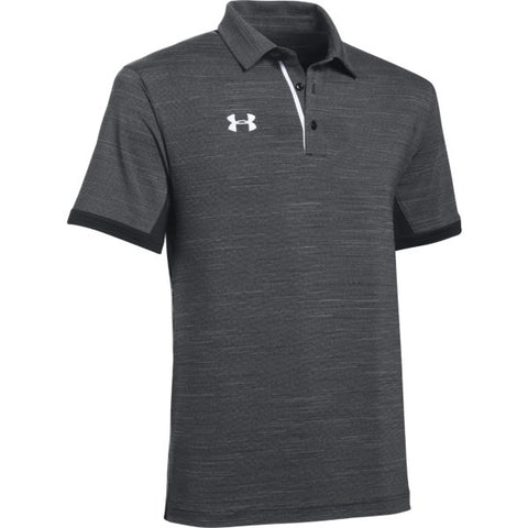 UA M's Elevated Polo - Black Medium Heather