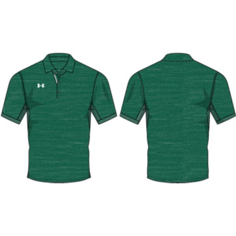 UA M's Elevated Polo - Forest Green Medium Heather