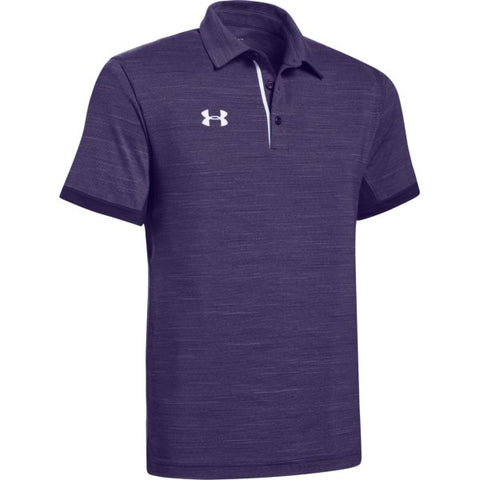 UA M's Elevated Polo - Purple Medium Heather