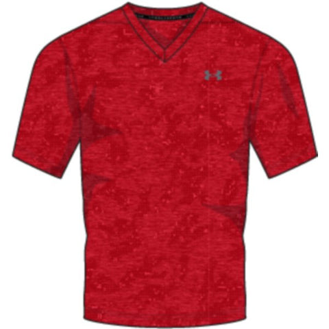 UA THREADBORNE PRINTED VNECK - Pierce