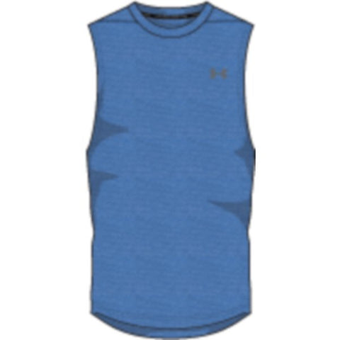 UA Threadborne Mscl Tank Nov - Mediterranean Full Heather