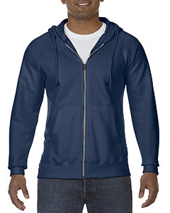 Comfort Colors Adult Full-Zip Hooded Sweatshirt - True Navy