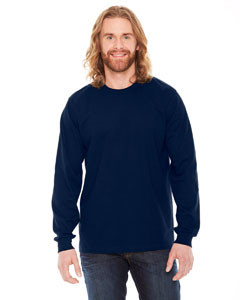 American Apparel Unisex Fine Jersey USA Made Long-Sleeve T-Shirt - Navy