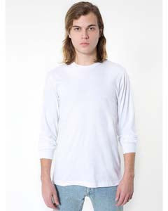 American Apparel Unisex Organic Fine Jersey Long-Sleeve T-Shirt - White