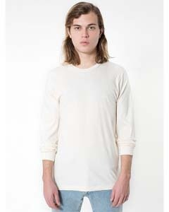 American Apparel Unisex Organic Fine Jersey Long-Sleeve T-Shirt - Organic Natural