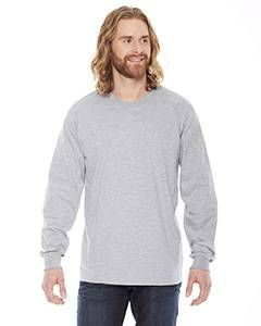 American Apparel Unisex Fine Jersey Long-Sleeve T-Shirt - Heather Grey