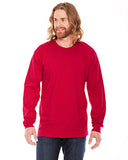 American Apparel Unisex Fine Jersey Long-Sleeve T-Shirt - Red