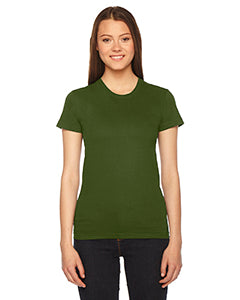 American Apparel Ladies' Fine Jersey Short-Sleeve T-Shirt - Olive