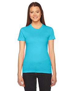 American Apparel Ladies' Fine Jersey Short-Sleeve T-Shirt - Turquoise