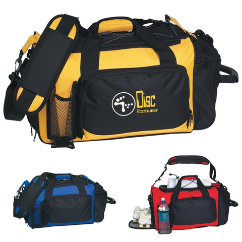 Deluxe Sports Duffel Bag (Silk-Screen)