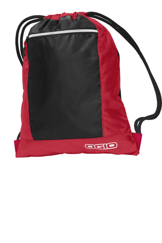 OGIO ®  Pulse Cinch Pack. 412045 - Deep Red/ Black
