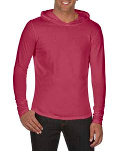 Comfort Colors Adult Heavyweight RS Long-Sleeve Hooded T-Shirt - Brick
