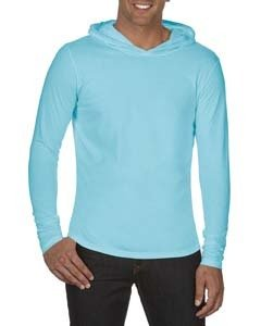 Comfort Colors Adult Heavyweight RS Long-Sleeve Hooded T-Shirt - Chambray