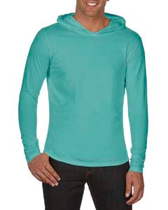 Comfort Colors Adult Heavyweight RS Long-Sleeve Hooded T-Shirt - Chalky Mint