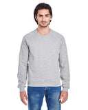 American Apparel Unisex California Fleece Raglan - Heather Grey