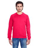 American Apparel Unisex California Fleece Raglan - Red