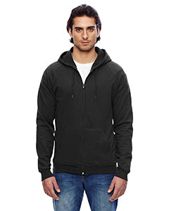 American Apparel Unisex California Fleece Zip Hoodie - Black