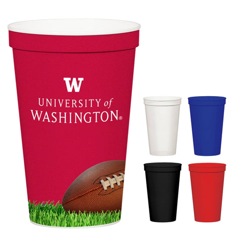 12 Oz. Full Color Stadium Cup (White)
