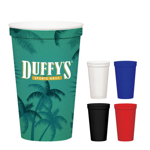 22 Oz. Full Color Stadium Cup (White)