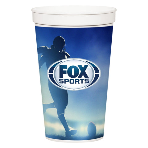 32 Oz. Full Color Stadium Cup (White)