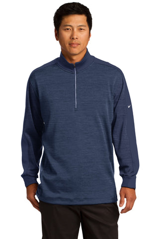 Nike Golf Dri-FIT 1/2-Zip Cover-Up. 578673 - Obsidian Heather/ Obsidian Solid