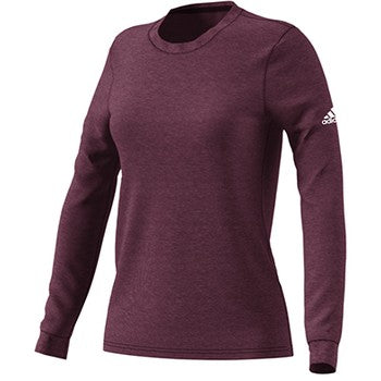 Womens Long Sleeve Go To Performance T Shirt Maroon