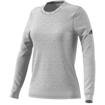 Womens Long Sleeve Go To Performance T Shirt Grey Heatherd