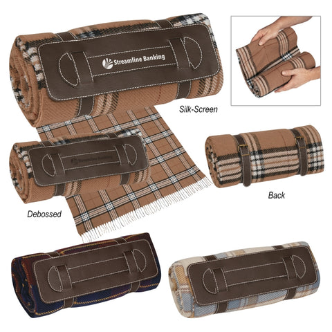 Tartan Roll-Up Blanket (Silk-Screen)