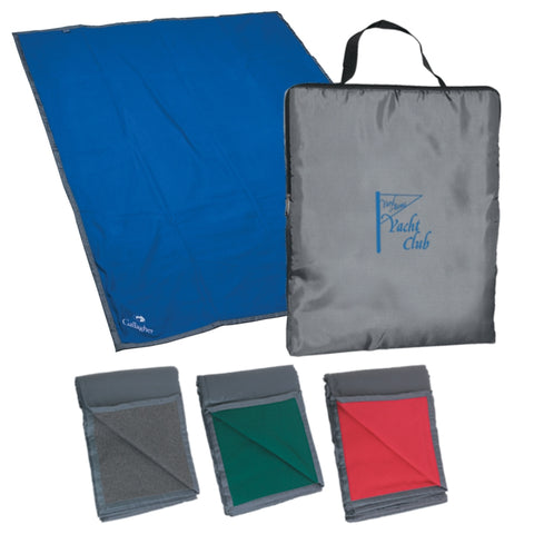 Reversible Fleece/Nylon Blanket With Carry Case (Embroidered)