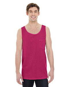 Comfort Colors Adult Heavyweight RS Pocket Tank - Crimson