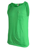 Comfort Colors Adult Heavyweight RS Pocket Tank - Neon Green