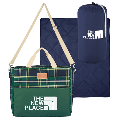 Tartan Kooler Bag With Deluxe Blanket