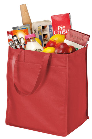 Port Authority ®  - Extra-Wide Polypropylene Grocery Tote. B160 - Red