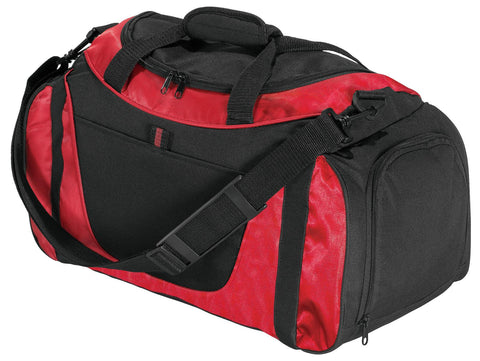 Port Authority ®  - Small Two-Tone Duffel. BG1040 - Red/ Black