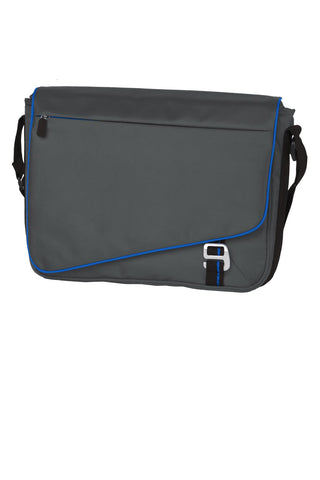 Port Authority ®  Transit Messenger. BG302 - Deep Smoke/ Royal
