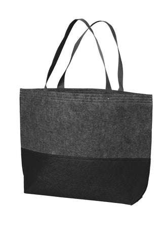 Port Authority ®  Large Felt Tote. BG402L - Black/ Felt Charcoal