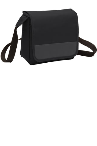 Port Authority ®  Lunch Cooler Messenger. BG753 - Black/ Dark Charcoal
