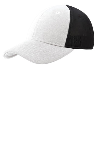 Port Authority ®  Pique Mesh Cap. C826 - White/ Black