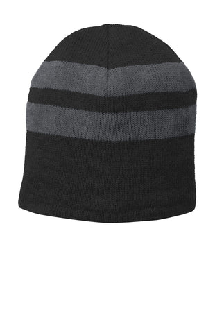 Port & Company ®  Fleece-Lined Striped Beanie Cap. C922 - Black/ Athletic Oxford