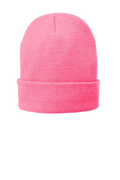 Port   Company ® Fleece-Lined Knit Cap. CP90L - Neon Pink Glo ... a2e222d83230